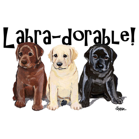 Labra-dorable Three Puppies - Women's Fitted T-Shirt