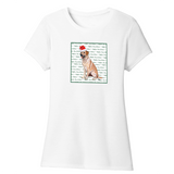 WCLRR - Yellow Lab Howlidays - Women's Tri-Blend T-Shirt