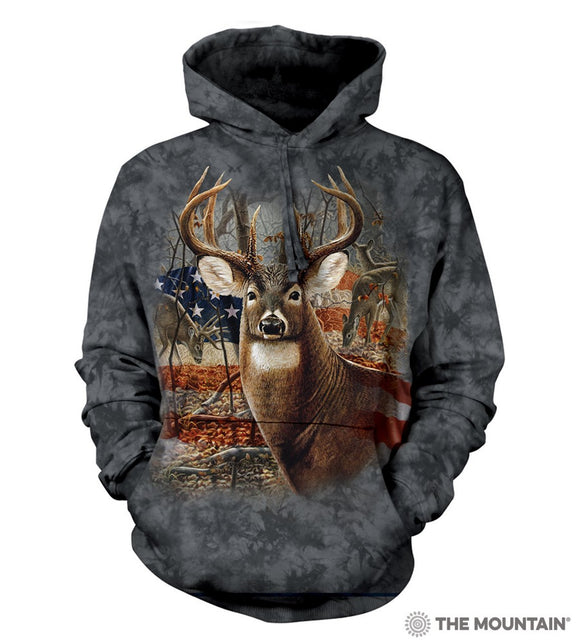 NEW Zoo & Adventure Park - Patriotic Buck - Hoodie Sweatshirt - Online Shop