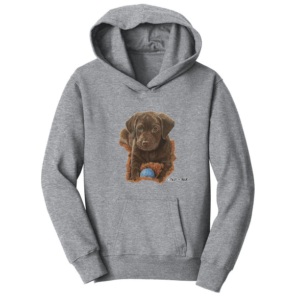 WCLRR - Chocolate Lab Puppy - Kids' Unisex Hoodie Sweatshirt