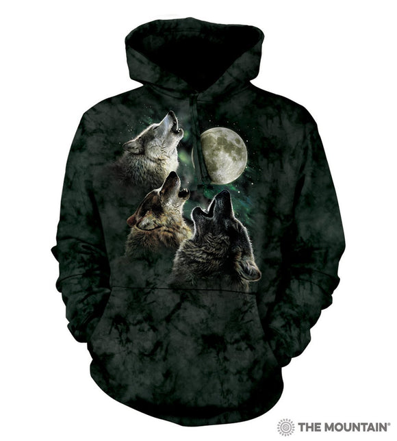 NEW Zoo & Adventure Park - Three Wolf Moon - Hoodie Sweatshirt - Online Shop