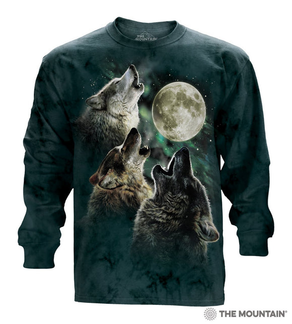 NEW Zoo & Adventure Park - Three Wolf Moon - Long Sleeve T-Shirt - Online Shop