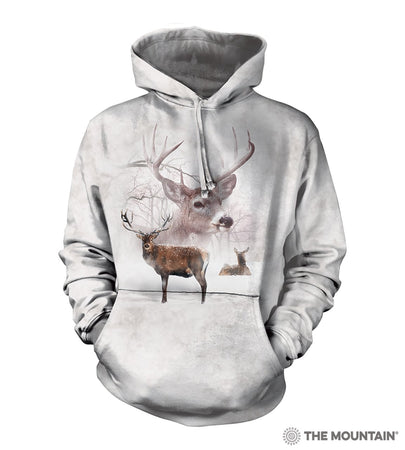 NEW Zoo & Adventure Park - Wintertime Deer - Hoodie Sweatshirt - Online Shop