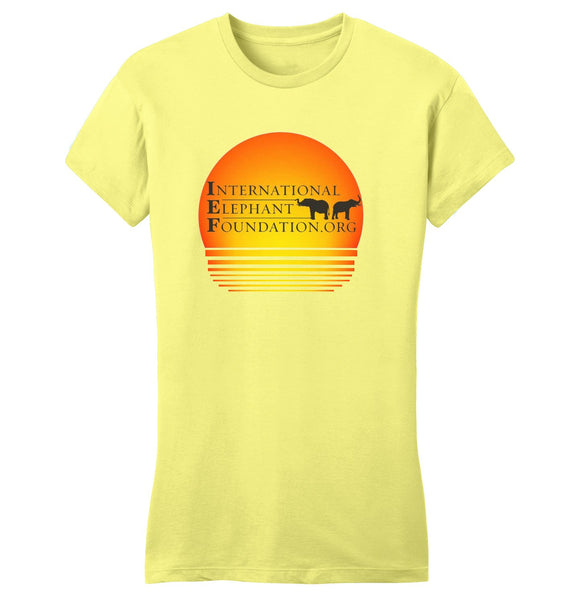 International Elephant Foundation - IEF Sunset Logo - Women's Fitted T-Shirt