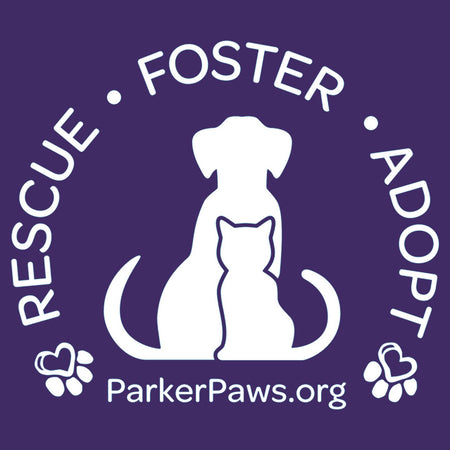 Parker Paws Logo Rescue Foster Adopt - Women's Fitted T-Shirt