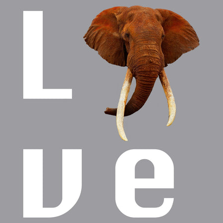 Elephant Love - Adult Unisex Long Sleeve T-Shirt