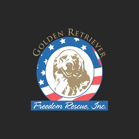 Golden Retriever Freedom Rescue Logo - Full Front - Adult Adjustable Face Mask