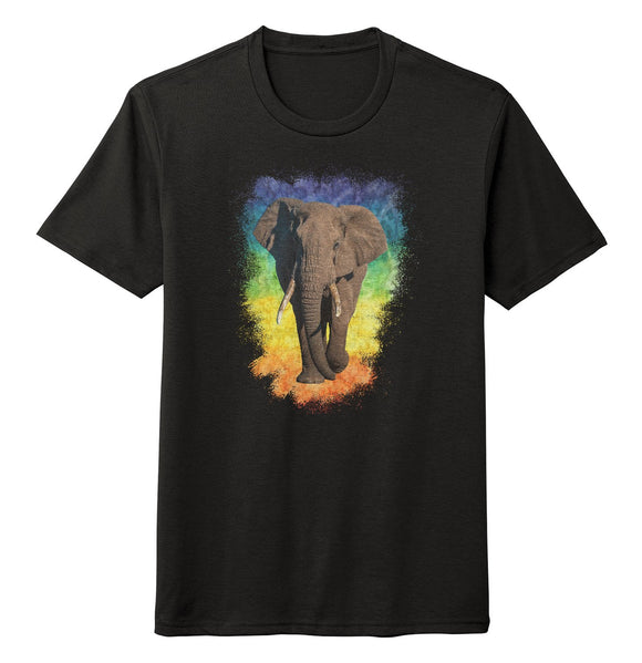 Elephant Rainbow - Tri-Blend T-Shirt | International Elephant Foundation