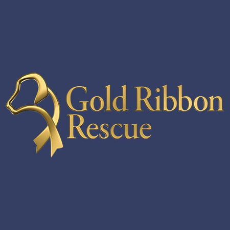 Gold Ribbon Rescue Logo - Kids' Unisex Hoodie Sweatshirt