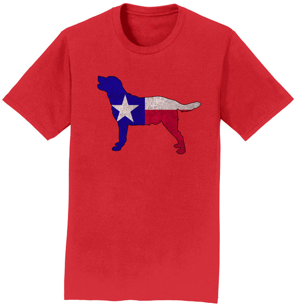 DFWLRRC - Texas Flag Pattern Lab Silhouette - Adult Unisex T-Shirt