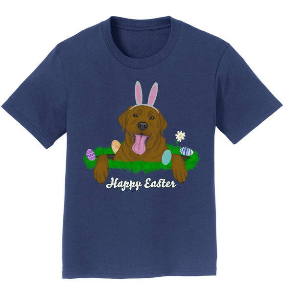 Rabbit Hole Chocolate Labrador  - Kids' Unisex T-Shirt