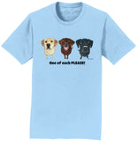WCLRR - One of Each Labrador Please - Adult Unisex T-Shirt