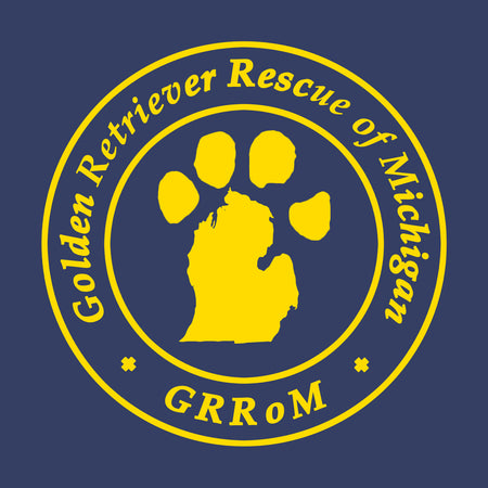 Golden Retriever Rescue of Michigan Logo - Left Chest - Adult Unisex T-Shirt