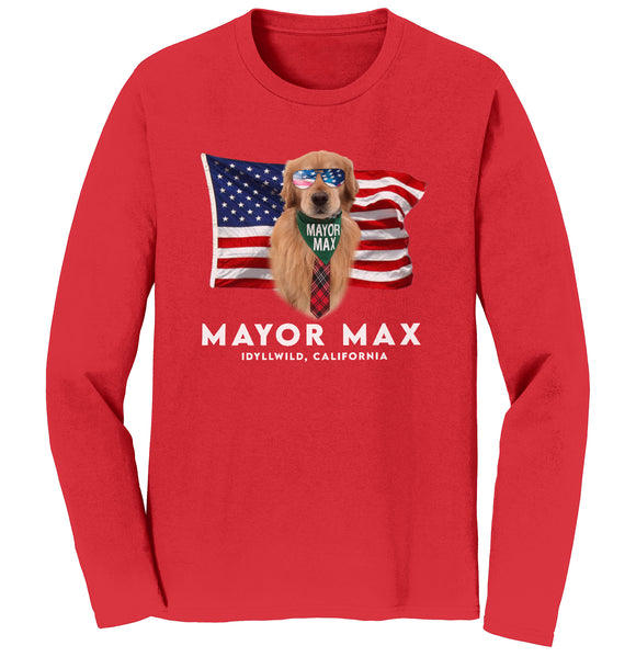 Mayor Max - American Mayor Max - Adult Unisex Long Sleeve T-Shirt