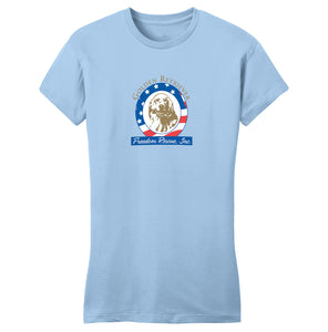 GRFR - Golden Retriever Freedom Rescue Logo - Full Front - Women's Fitted T-Shirt