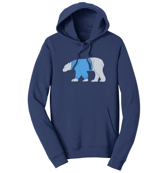 Sweater Polar Bear - Adult Unisex Hoodie Sweatshirt