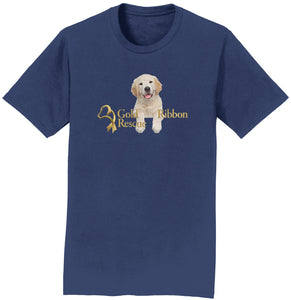 Gold Ribbon Rescue Puppy Logo - T-Shirt