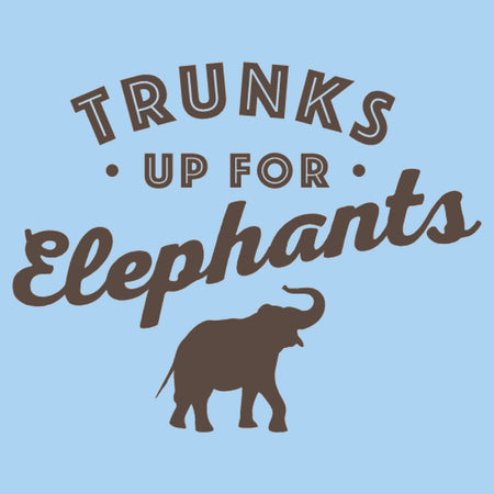 Trunks Up for Elephants 1 - Adult Unisex T-Shirt