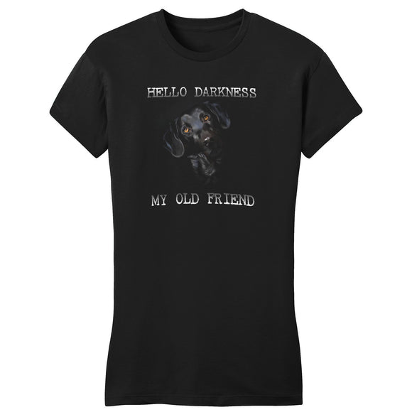Hello Darkness My Old Friend - Black Lab - Women's Fitted T-Shirt - WCLRR
