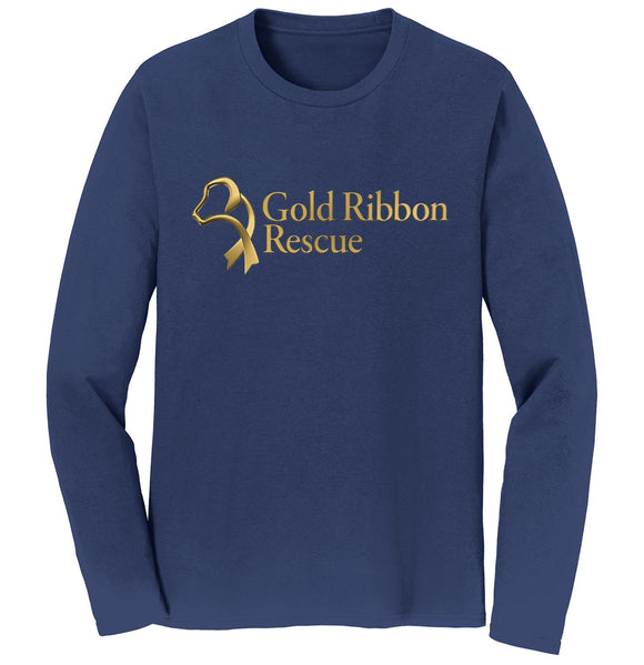 Gold Ribbon Rescue Logo - Long Sleeve T-Shirt