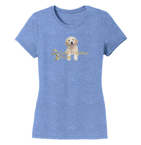 Gold Ribbon Rescue Puppy Logo - Ladies' Tri-Blend T-Shirt