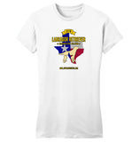 DFWLRRC - DFW LRRC Texas Flag Yellow Lab Logo - Women's Fitted T-Shirt