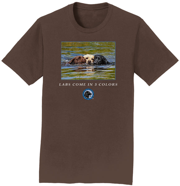 The Labrador Retriever Club - LRC Labs Come in 3 Colors - Adult Unisex T-Shirt