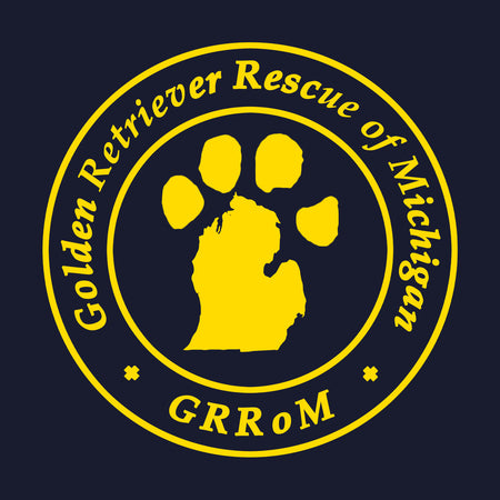 Golden Retriever Rescue of Michigan Logo - Left Chest - Women's Fitted T-Shirt