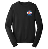 Golden Retriever Freedom Rescue Colorado Flag Logo - Left Chest - Crewneck Sweatshirt