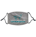 Golden Retriever Rescue of Mid-Florida Logo - Adult Adjustable Face Mask