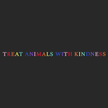 Treat Animals with Kindness - Women's Fitted T-Shirt