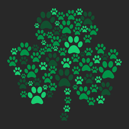 Green Paw Shamrock - Adult Adjustable Face Mask