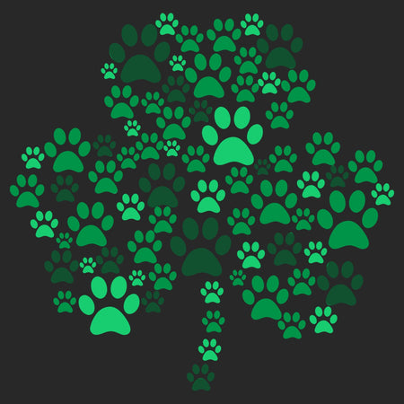 Green Paw Shamrock - Adult Unisex T-Shirt