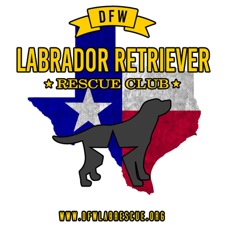 DFW LRRC Texas Flag Black Lab Logo - Adult Unisex T-Shirt