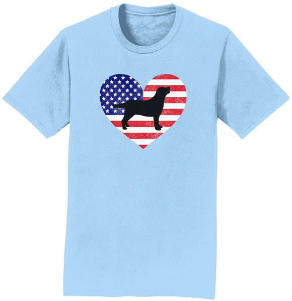 WCLRR - USA Flag Lab Silhouette - T-Shirt