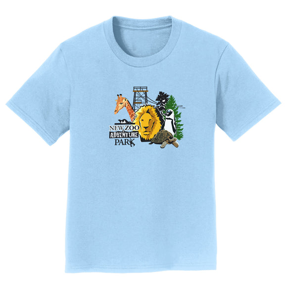 NEW Zoo & Adventure Park - NEW Zoo Minimalist Animals - Kids' Unisex T-Shirt