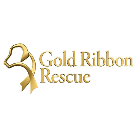 Gold Ribbon Rescue Logo - Adult Unisex T-Shirt
