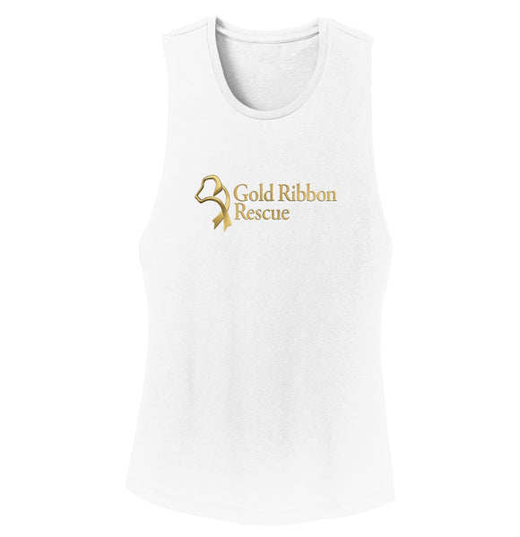 Gold Ribbon Rescue Logo - Ladies' Tank Top