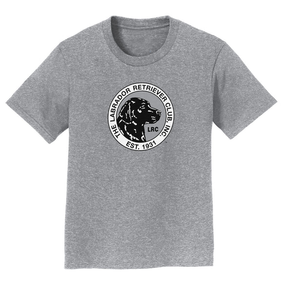 The Labrador Retriever Club - LRC Logo - Full Front Black & White - Kids' Unisex T-Shirt