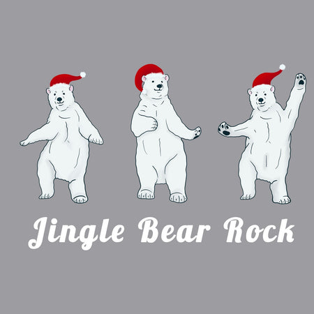 Jingle Bear Rock - Adult Unisex Hoodie Sweatshirt