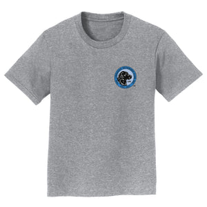 The Labrador Retriever Club - LRC Logo - Left Chest Blue - Kids' Unisex T-Shirt