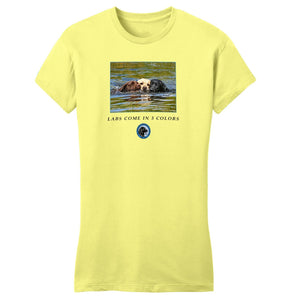 The Labrador Retriever Club - LRC Labs Come in 3 Colors - Women's Fitted T-Shirt