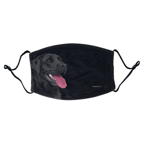 Black Lab Graphic Illustration Face Mask - WCLRR