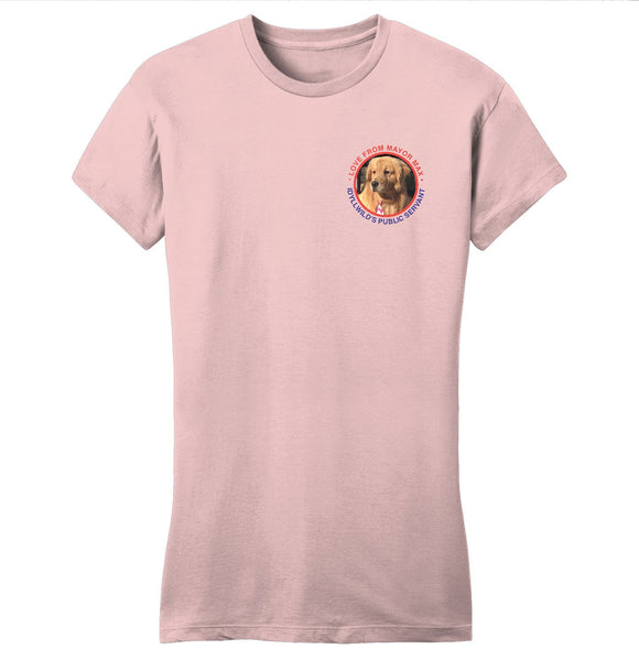 Mayor Max - Love From Mayor Max - Women's Fitted T-Shirt