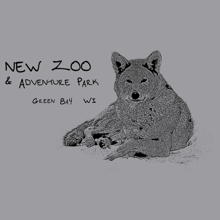 NEW Zoo Logo Red Wolf Outline - Adult Unisex Long Sleeve T-Shirt