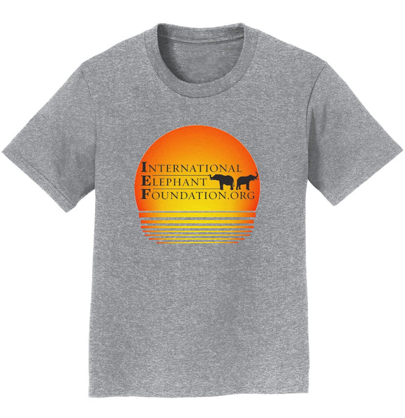International Elephant Foundation - IEF Sunset Logo - Kids' Unisex T-Shirt