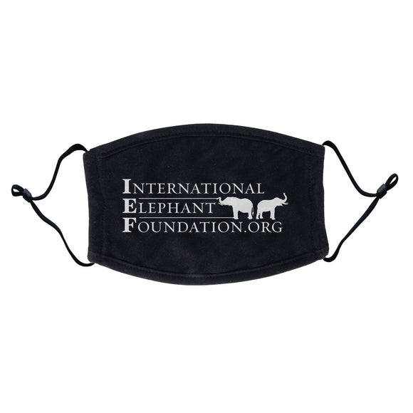 International Elephant Foundation - IEF Logo - Adult Adjustable Face Mask