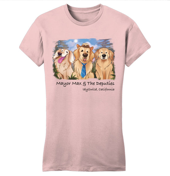 Mayor Max - Mayor Max and Deputies - Women's Fitted T-Shirt