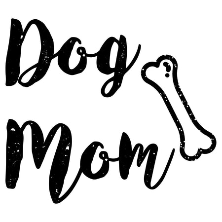 Dog Mom with Bone - Women's V-Neck T-Shirt