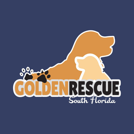 Golden Rescue South Florida Left Chest Logo - Adult Unisex Full-Zip Hoodie Sweatshirt
